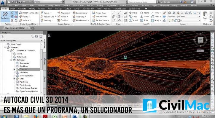 AUTOCAD CIVIL 3D 2014 ES MÁS QUE UN PROGRAMA, UN SOLUCIONADOR
