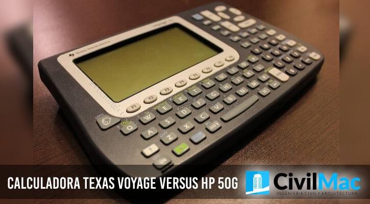 Calculadora Texas Voyage versus Hp 50G