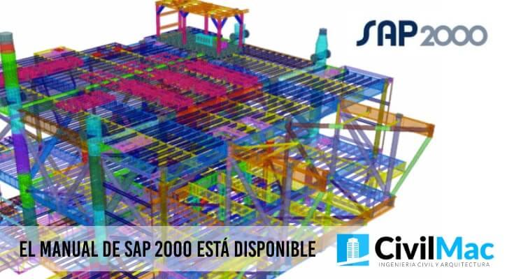 EL MANUAL DE SAP 2000 ESTÁ DISPONIBLE