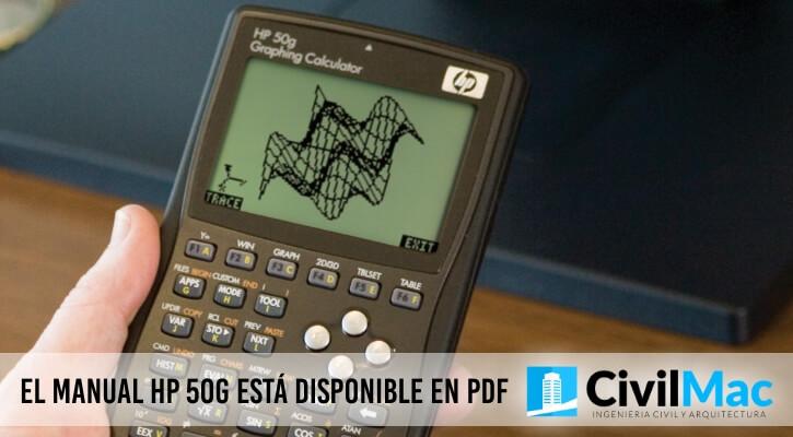 EL MANUAL HP 50G ESTÁ DISPONIBLE EN PDF