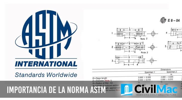 IMPORTANCIA DE LA NORMA ASTM
