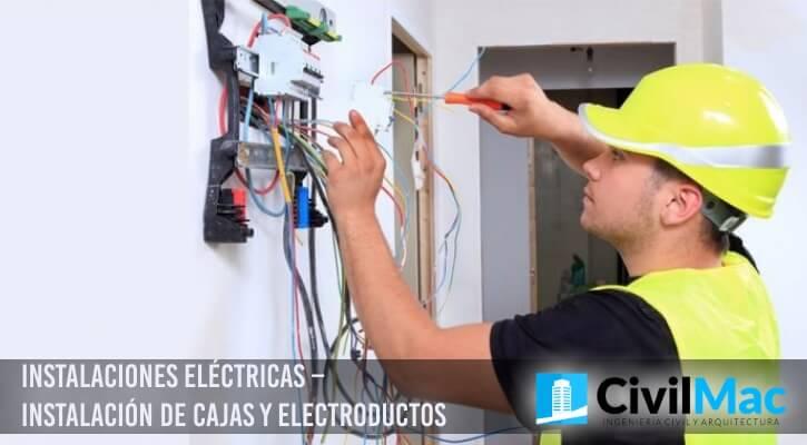 Instalaciones Eléctricas – Instalación de Cajas y Electroductos