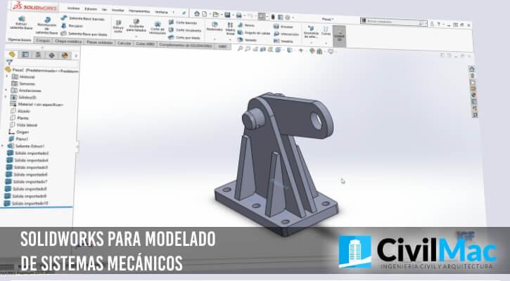 SolidWorks para modelado de sistemas mecánicos